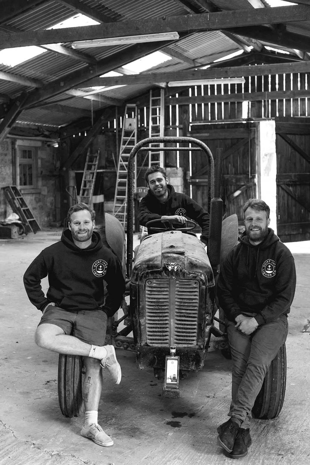 Thompson Brothers on a tractor