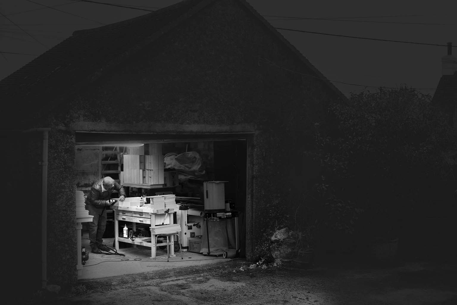 St Ives man in shed