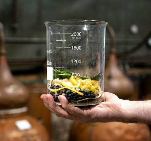Rude Mechanicals beaker of botanicals