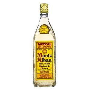 Mezcal with worm