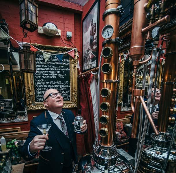 Hamish at the Fat Pig Distillery