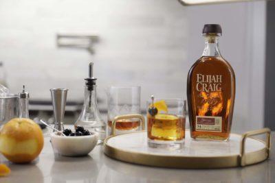 Elijah Craig with cocktail kit