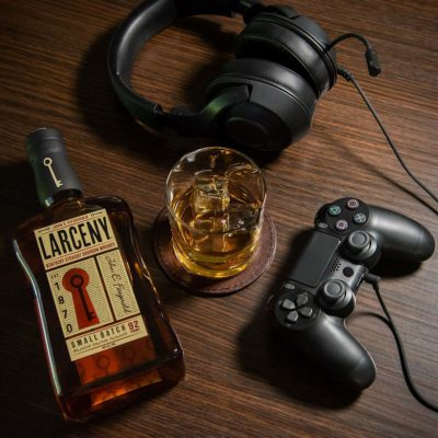 Larceny with glass and playstation remote