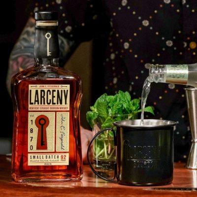 Larceny poured into Larceny cup