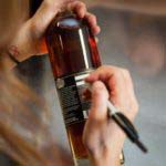 Smoother ambler bottle being written on