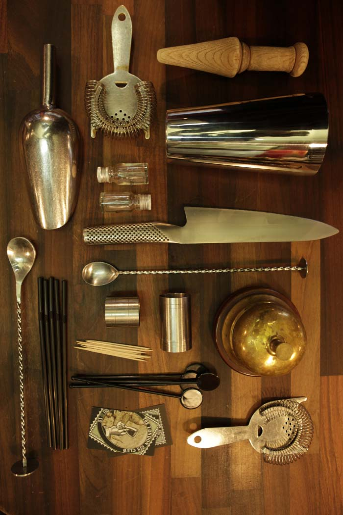 Arial view of cocktail kit from London Gin Club