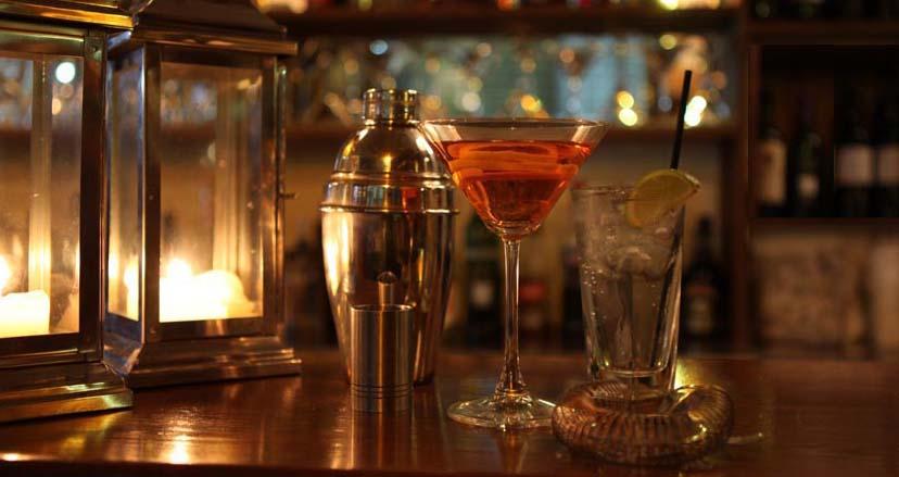 London Gin Club cocktail on bar