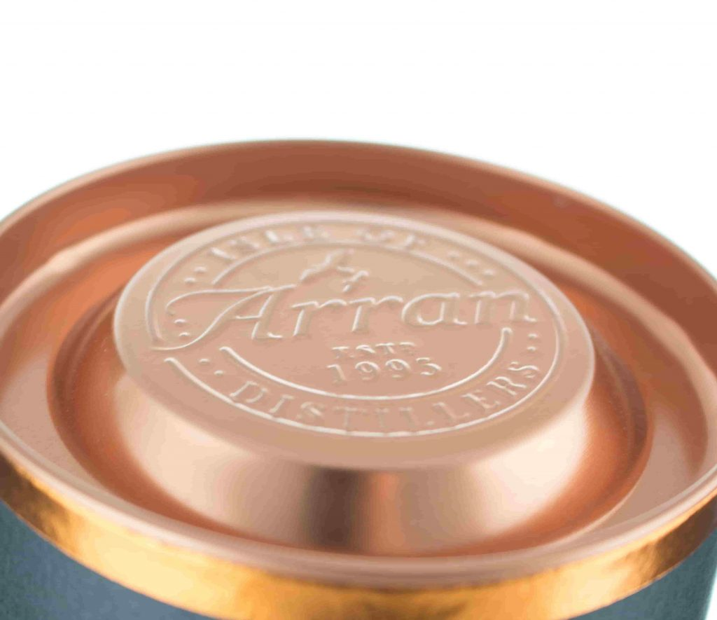 Arran Amarone Cask box cap close up