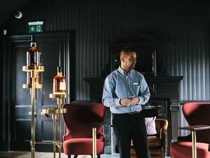 Strathisla Distillery lifestyle man giving talk