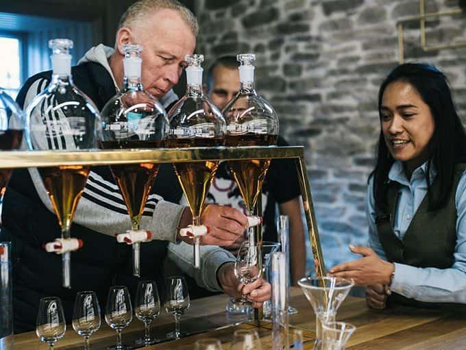 Strathisla Distillery lifestyle whisky tasting