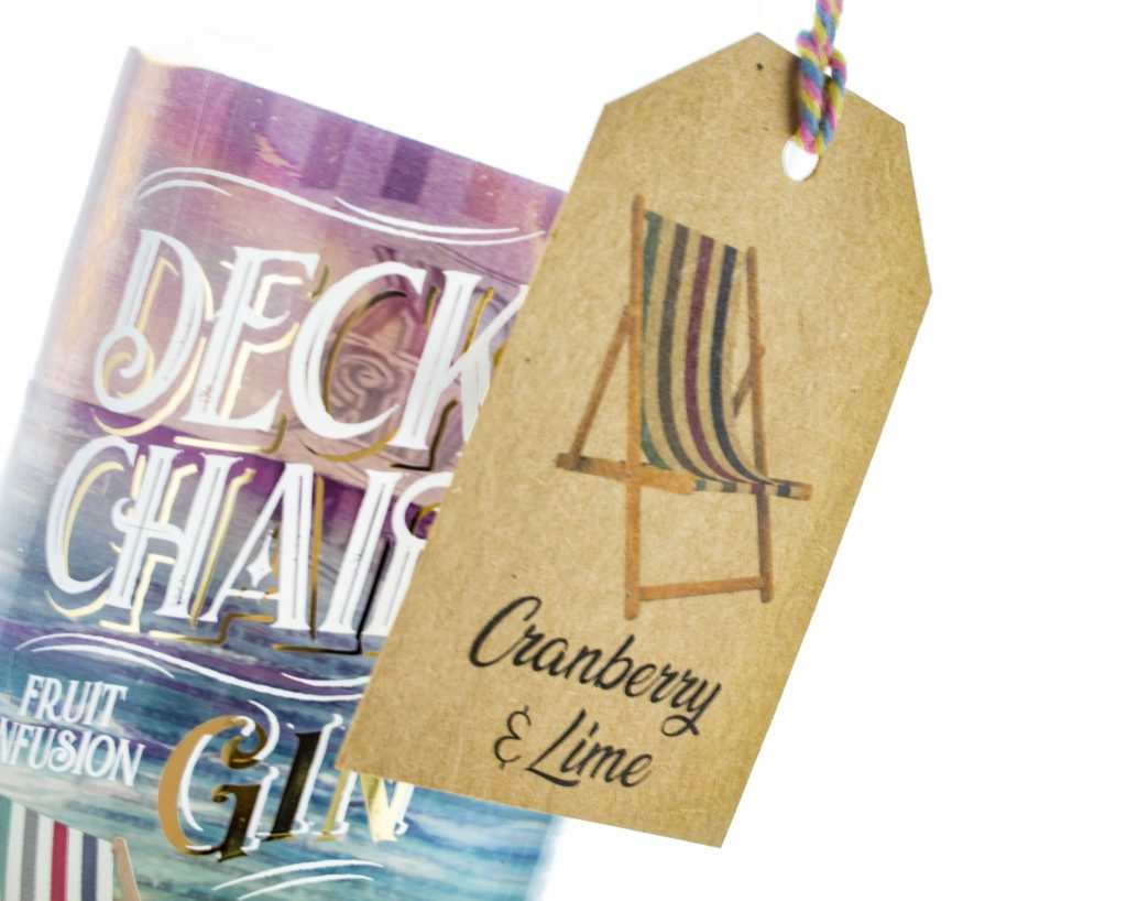 Deck Chair Cranberry and Lime Wonky