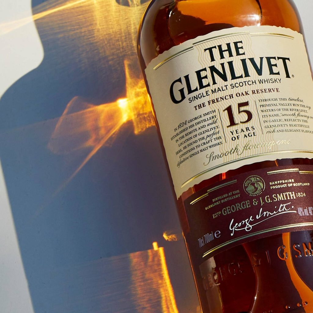 Glenlivet 15 year old close up