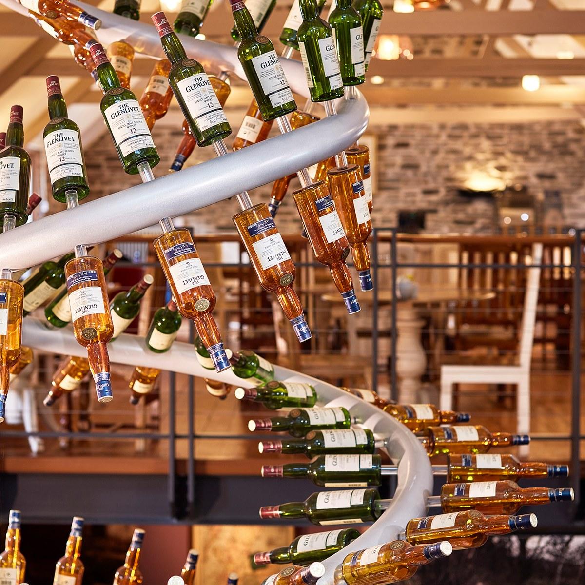 Glenlivet bottles in production