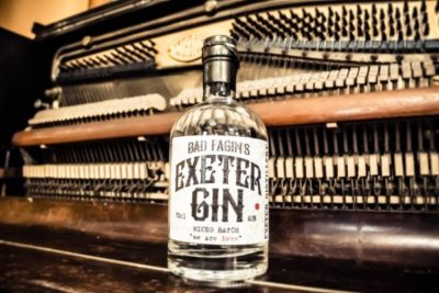 Bad Fagin's Exeter Gin on closed piano