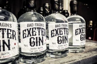 Bad Fagin's Exeter Gin on a shelf