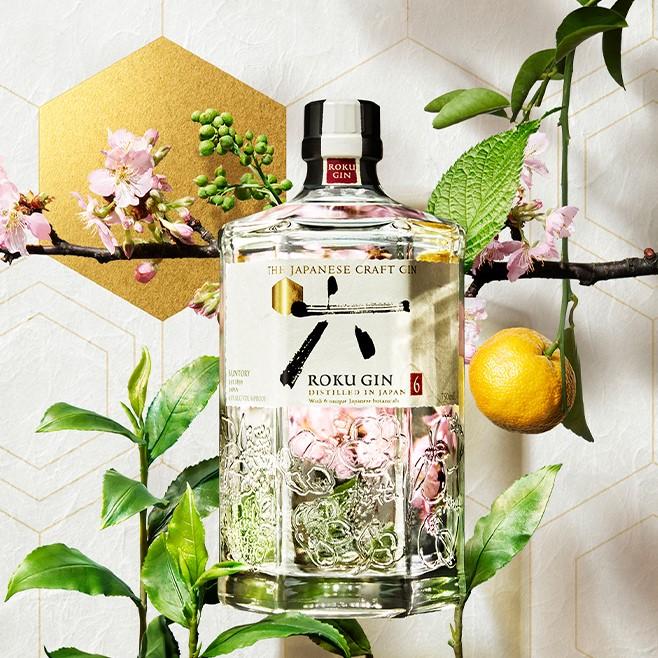 Roku Gin with botanicals