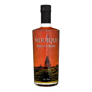 Siddiqui Brown Rum on white background