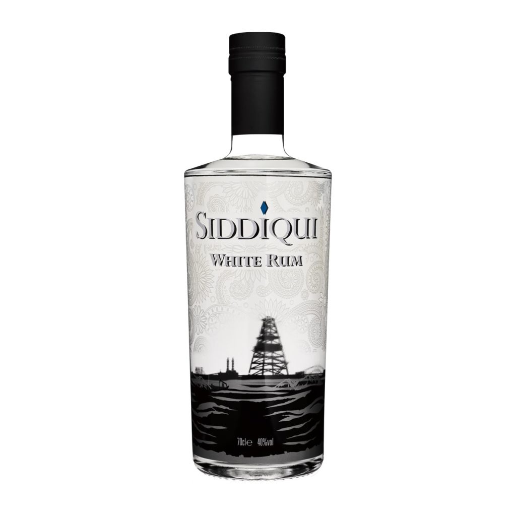 Siddiqui White Rum on white background