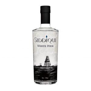 Siddiqui White Rum on white background