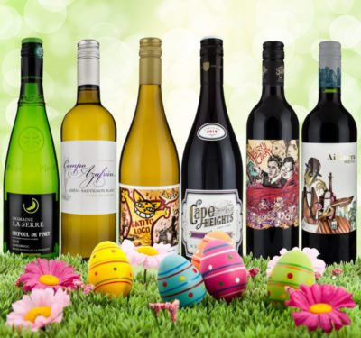 Wine Box with Easter Background
