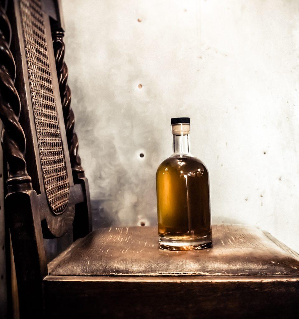 Nailbiter Rum on chair