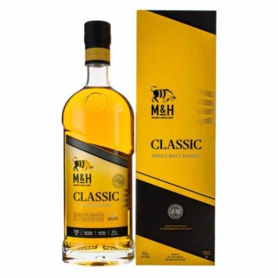 M and H Tel Aviv Whisky with box white background