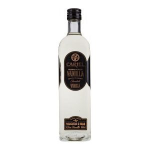 Cariel Vanilla Vodka on white background