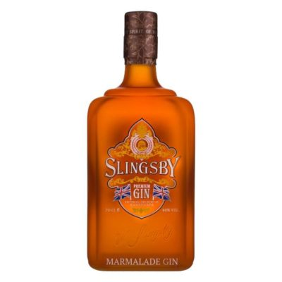 Slingsby Marmalade Gin on white background