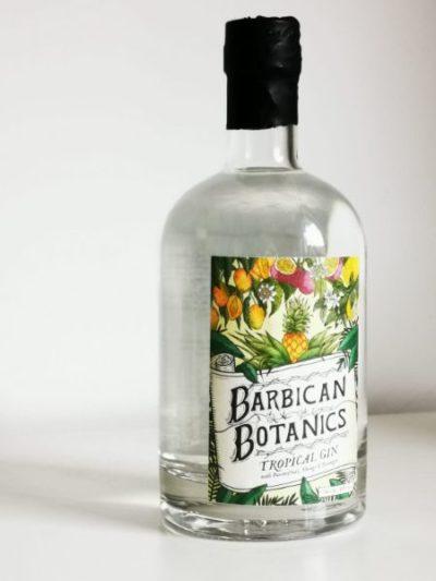 Barbican Botanics Tropical Gin with shadow