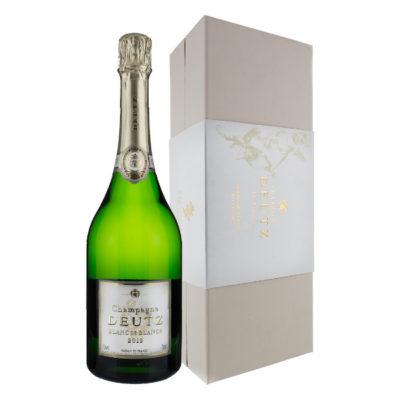 Champagne Deutz Blanc de Blancs bottle and angled box